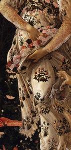 Botticelli-La primavera Botticelli Galleria degli Uffizi Detall 01