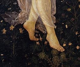 La primavera Botticelli Galleria degli Uffizi detall 05