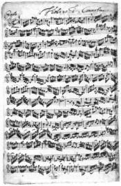 Inici moviment I Concert per a 2 violins en Re menor BWV1043 JS Bach