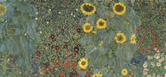 Jardí campestre amb girasols Gustav Klimt retall 01