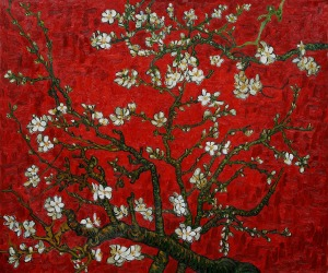 Vincent van Gogh Almond branches in blossom red