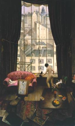 A Studio in Montparnasse exhibited 1926 by Christopher Richard Wynne Nevinson 1889-1946