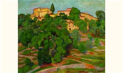 Paysage de Majorque, Angelina Beloff 1914