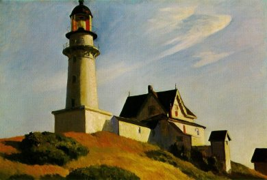 the-lighthouse-at-two-lights, 1929 Edward Hopper